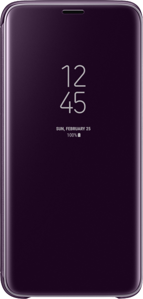 Samsung Clear View Standing Cover EF-ZG960 f. Galaxy S9,Violet