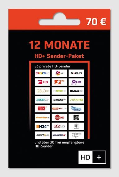 HD+ Karte-Verlängerung für 12 Monate HD TV Empfang HD Plus Sender für HD 01 02 03 04 Karten versand