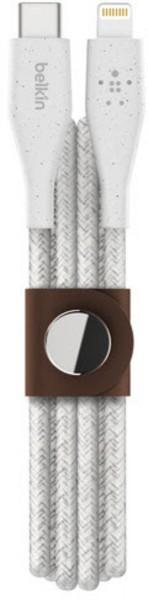 Belkin DuraTek Plus Lightning USB-C Kabel mfi zertif. 1.2m wht