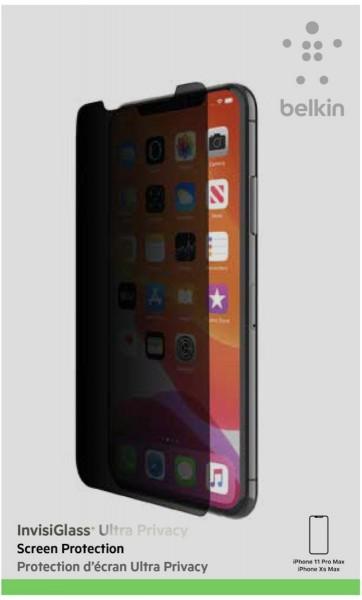 Belkin Screenf. Invisigl. Ultra Priv. iPhone 11 Pro Max/Xs Max