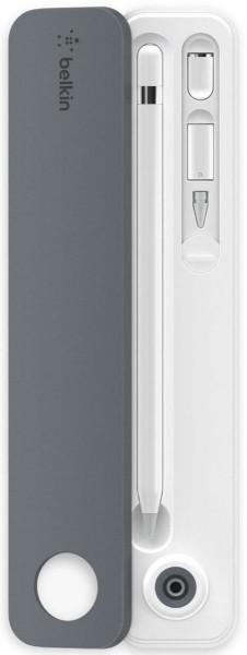 Belkin Hülle und Ständer für Apple Pencil, weiß-grau
